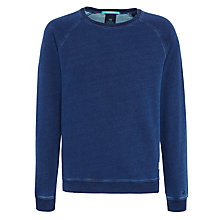 Buy Scotch & Soda Crew Neck Sweatshirt, Indigo Online at johnlewis.com