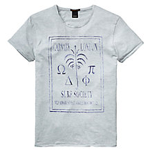 Buy Scotch & Soda Surf Society Carnaby Print T-Shirt, Ice Blue Melange Online at johnlewis.com