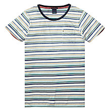 Buy Scotch & Soda Striped Crew Neck T-Shirt, Multi Online at johnlewis.com