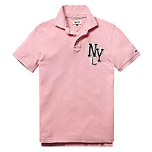 Buy Hilfiger Denim Pilot Logo Polo Shirt, Sea Pink Online at johnlewis.com