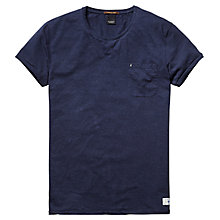 Buy Scotch & Soda Flecked Cotton Crew Neck T-Shirt, Navy Online at johnlewis.com