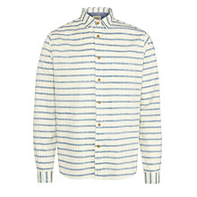 Buy Bellerose Elvio Long Sleeve Stripe Shirt, Blue/White Online at johnlewis.com