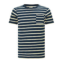 Buy Bellerose Slub Jacquard Stripe T-Shirt, Navy Online at johnlewis.com
