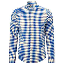 Buy Bellerose Enrico Checked Long Sleeve Cotton Shirt, Blue Online at johnlewis.com