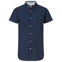 Buy Hilfiger Denim Zander Polka Dot Shirt, Black Iris Online at johnlewis.com