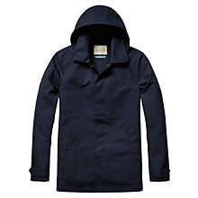 Buy Scotch & Soda Hooded Cotton Mac, Navy Online at johnlewis.com