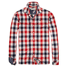 Buy Tommy Hilfiger Norbert Check Shirt, Red Online at johnlewis.com