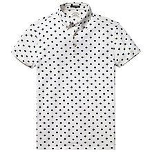 Buy Scotch & Soda Polka Dot Polo Shirt, White/Navy Online at johnlewis.com