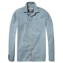 Buy Hilfiger Denim Nico Long Sleeved Check Shirt, Green Online at johnlewis.com