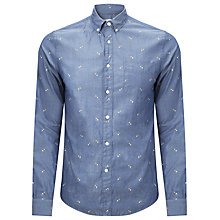 Buy Bellerose Istas Cotton Long Sleeved Shirt, Blue Online at johnlewis.com