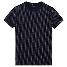 Buy Scotch & Soda Crew Neck Polka Dot T-Shirt, Navy Online at johnlewis.com