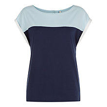 Buy People Tree Florence Top, Navy Online at johnlewis.com
