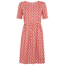 Buy People Tree Orla Kiely Wallflower Tea Dress, Pink Online at johnlewis.com