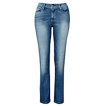 "Buy Levi's Jeans Demi Curve Straight Jeans 32"", Sunset Night Online at johnlewis.com"