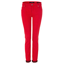 Buy Oui Sienna Slim-Fit Jeggings, Red Online at johnlewis.com