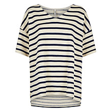 Buy People Tree Shannon Loop Top, Navy Online at johnlewis.com