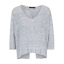 Buy Oui Open Back Jumper, Blue Marl Online at johnlewis.com
