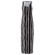 Buy Oui Vertical Stripe Jersey Dress, Black/White Online at johnlewis.com