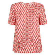 Buy People Tree Orla Kiely Wallflower Top, Pink Online at johnlewis.com
