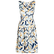 Buy People Tree Juliette Flared Dress, Blue Online at johnlewis.com