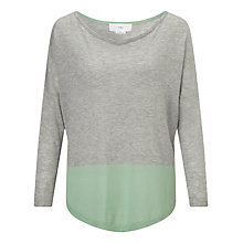 Buy Charli Courtney Silk/Cashmere Jumper, Green/Grey Online at johnlewis.com