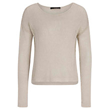Buy Oui Long Sleeve Jumper, Stone Online at johnlewis.com