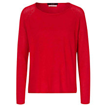 Buy Oui Linen-blend Jumper, Red Online at johnlewis.com