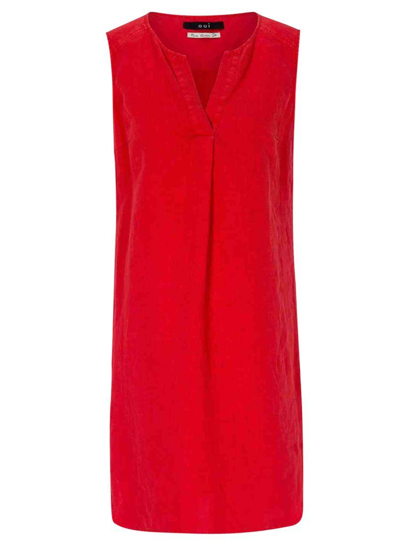 oui sleeveless tunic dress red, oui, sleeveless, tunic, dress, red, 8|10|12|14|16, women, womens dresses, 1931578