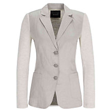 Buy Oui Cotton Blazer Jacket, Off White Online at johnlewis.com