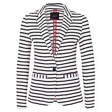 Buy Oui Stripe Jacket, Blue/White Online at johnlewis.com
