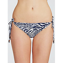 Buy John Lewis Zebra Luxe Tie Bikini Briefs, Navy / White Online at johnlewis.com