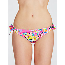 Buy John Lewis Tropical Floral Tie Briefs, Pink Online at johnlewis.com