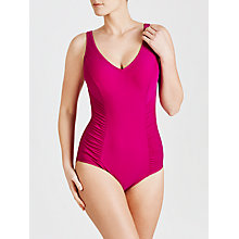 Buy John Lewis Ruched Control Swimsuit, Berry Online at johnlewis.com