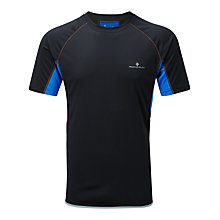 Buy Ronill Advance Short Sleeve Crew Neck Running Top, Black/Blue Online at johnlewis.com