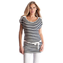 Buy Séraphine Frankie Stripe Maternity Tunic, Navy/White Online at johnlewis.com