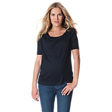 Buy Séraphine Anju Short Sleeve Nursing Wrap Top, Navy Online at johnlewis.com