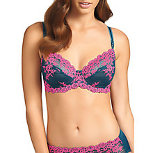 Buy Wacoal Embrace Lace Underwire Bra, Legion Blue / Lilac Rose Online at johnlewis.com