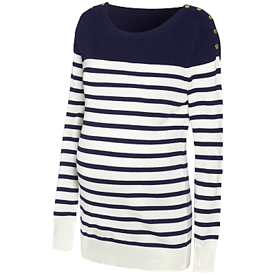 Product photo of S raphine tilly stripe knit maternity jumper navy white