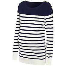 Buy Seraphine Tilly Stripe Knit Maternity Jumper, Navy/White Online at johnlewis.com