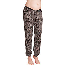 Buy Séraphine Harmony Aztec Print Maternity Trousers, Black Online at johnlewis.com