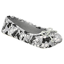 Buy Radley Cherry Blossom Ballerina Slippers, Grey Online at johnlewis.com