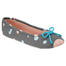 Buy Radley Elliot Vale Ballerina Slippers, Grey Online at johnlewis.com