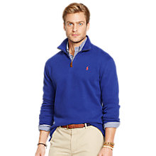 Buy Polo Ralph Lauren 1/4 Zip Cotton Jumper Online at johnlewis.com