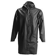 Buy Rains Long Waterproof Jacket, Black Online at johnlewis.com