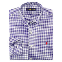 Buy Polo Ralph Lauren Gingham Poplin Long Sleeve Shirt Online at johnlewis.com