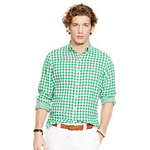 Buy Polo Ralph Lauren Double Faced Gingham Shirt Online at johnlewis.com