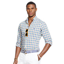 Buy Polo Ralph Lauren Poplin Plaid Shirt, Multi Online at johnlewis.com