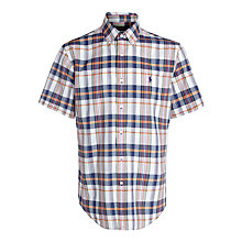 Buy Polo Ralph Lauren Madras Check Short Sleeve Shirt Online at johnlewis.com