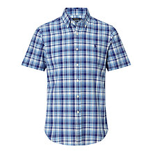 Buy Polo Ralph Lauren Madras Check Shirt, Multi Blue Online at johnlewis.com