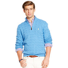 Buy Polo Ralph Lauren Cable Knit Half Zip Jumper Online at johnlewis.com